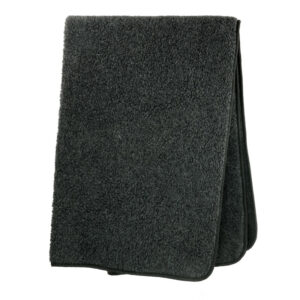 Schafwoll-Decke Wollflor anthrazit