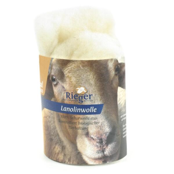Lanolinwolle Schafwollvlies mit hohem Lanolingehalt