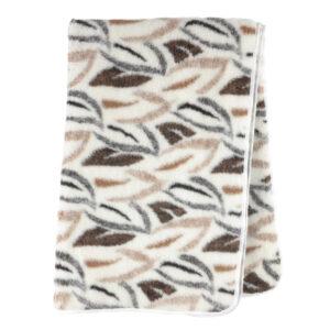 Schafwoll-Decke Wollflor Muster Blätter