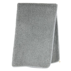 Schafwoll-Decke Wollflor grau