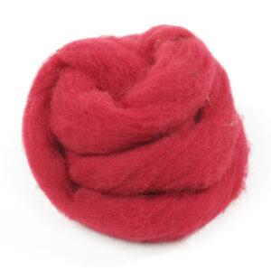 Handfilzwolle rot