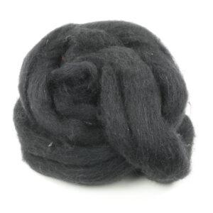 Handfilzwolle schwarz