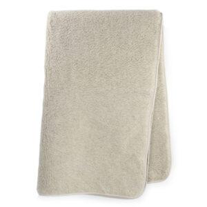 Schafwoll-Decke Wollflor fuchsfarbig