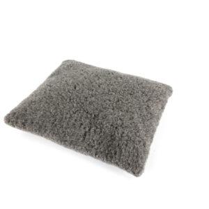Katzen-Kissen Wollflor grau, II. Wahl