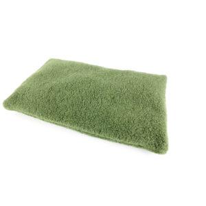 Katzen-Kissen Wollflor grün, II. Wahl