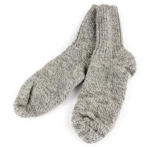 Schurwoll-Socke dick grau meliert